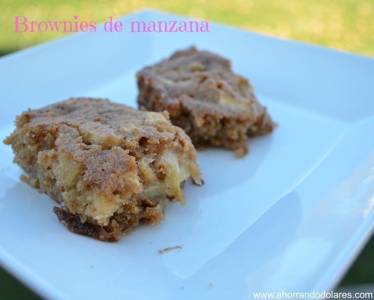 Deliciosa receta. Cómo preparar brownies de manzana desde la cocina de tu casa.