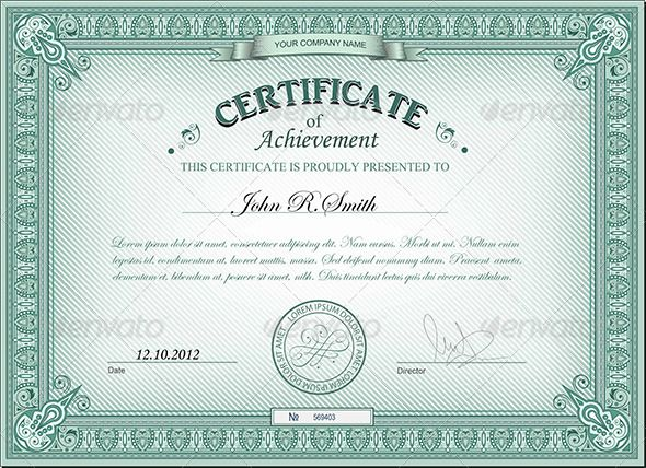 Detailed certificate font arial and text fonts