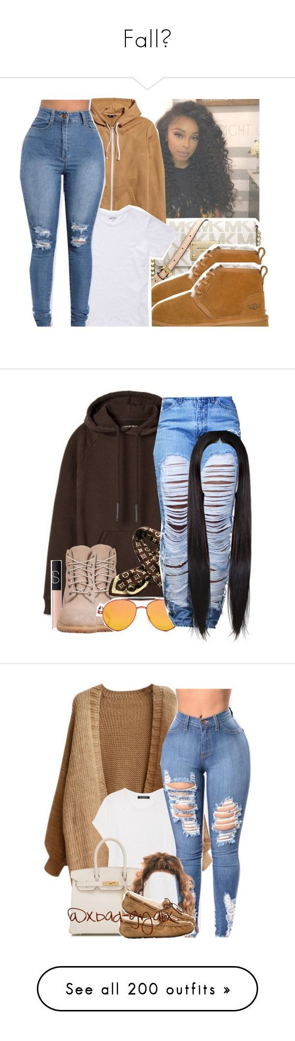 """Fall🍁"" by heavensincere ❤ liked on Polyvore featuring Michael Kors, UGG, Bonobos, Timberland, Louis Vuitton, Givenchy, NARS Cosmetics, Balmain, Hermès and UGG Australia"