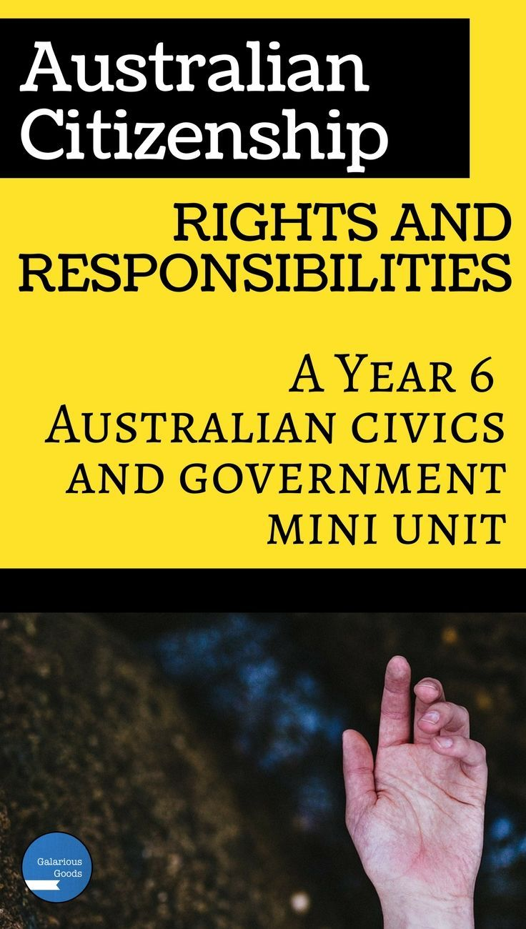 Year 6 Australian Government and Civics mini unit looking at the rights and responsibilities of Australian citizenship. Includes teaching notes, learning activities, fact sheets, assessment and marking rubric. Aligned with the Australian curriculum and perfect for the social studies classroom