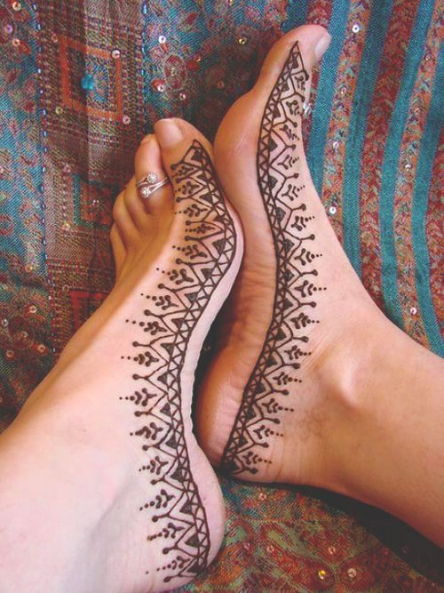 Henna Foot Tattoo Designs: Pretty Henna