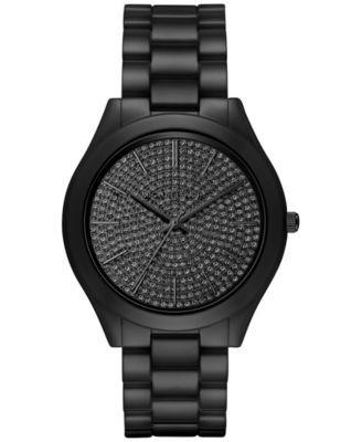 Michael Kors Women's Slim Runway Black Ceramic Bracelet Watch 42mm MK3449 - Watches - Jewelry & Watches - Macy's