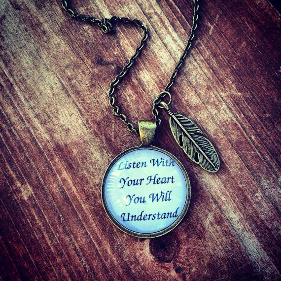 Antique Bronze Pocahontas Inspired Quote Necklace on Etsy, $14.00