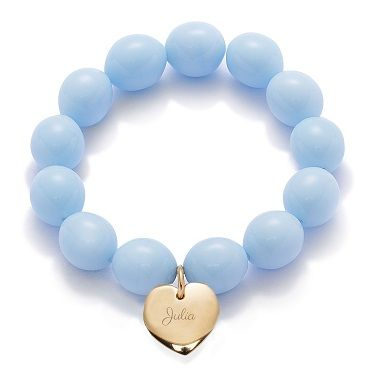Pearls and heart pendant, colors and engraving: create your own gift with Lilou by choosing all of the bracelet' components! #lilou #pearls #heart #colors #engraving #bracelet #gift