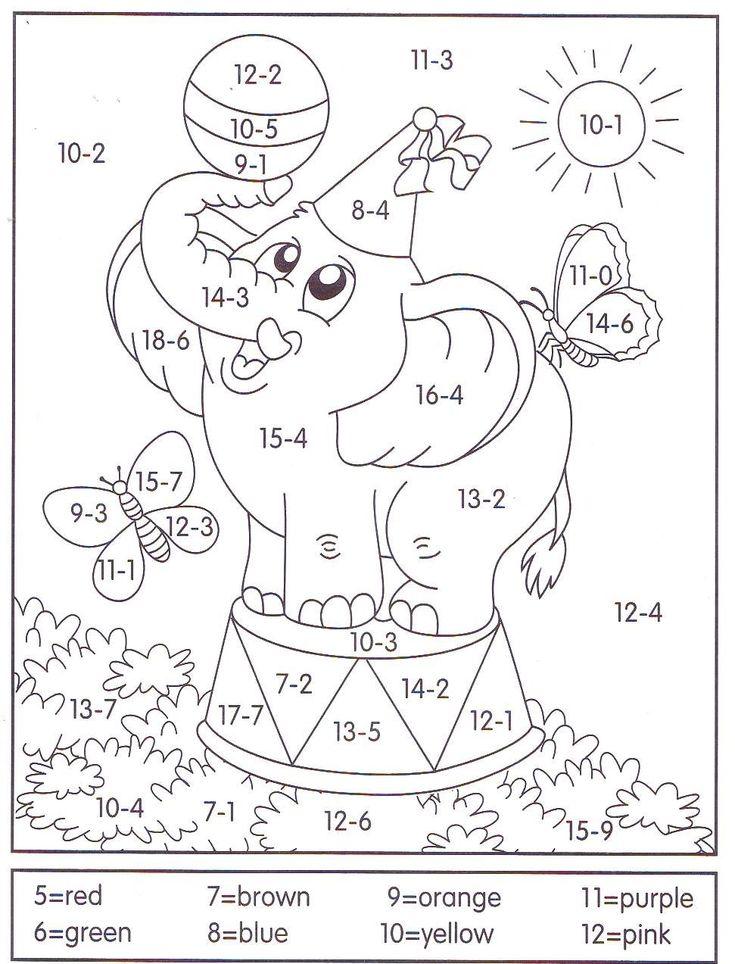 9 besten Math Bilder auf Pinterest | Addieren spiele, Arbeitsblätter ...