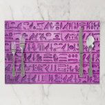 Ancient Egyptian Hieroglyphs Purple Placemats #halloween #happyhalloween #halloweenparty #halloweenmakeup #halloweencostume