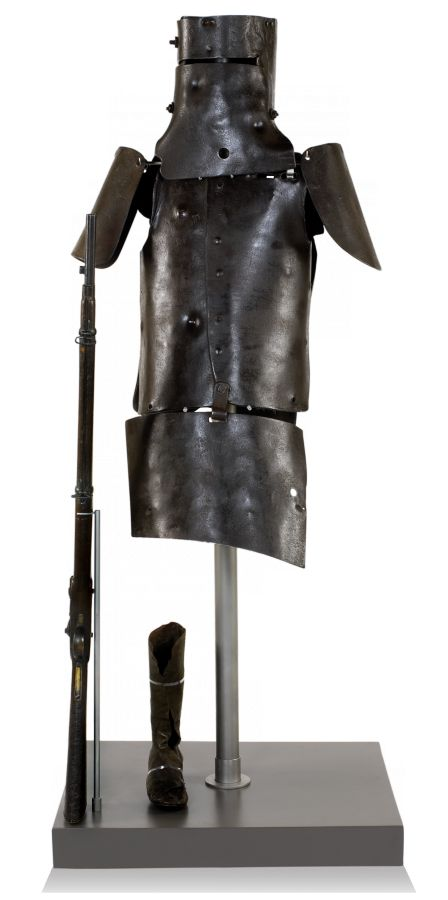 The full armour Ned Kelly wore (State Library of Victoria)