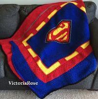 Superman Crochet Blanket - via @Craftsy
