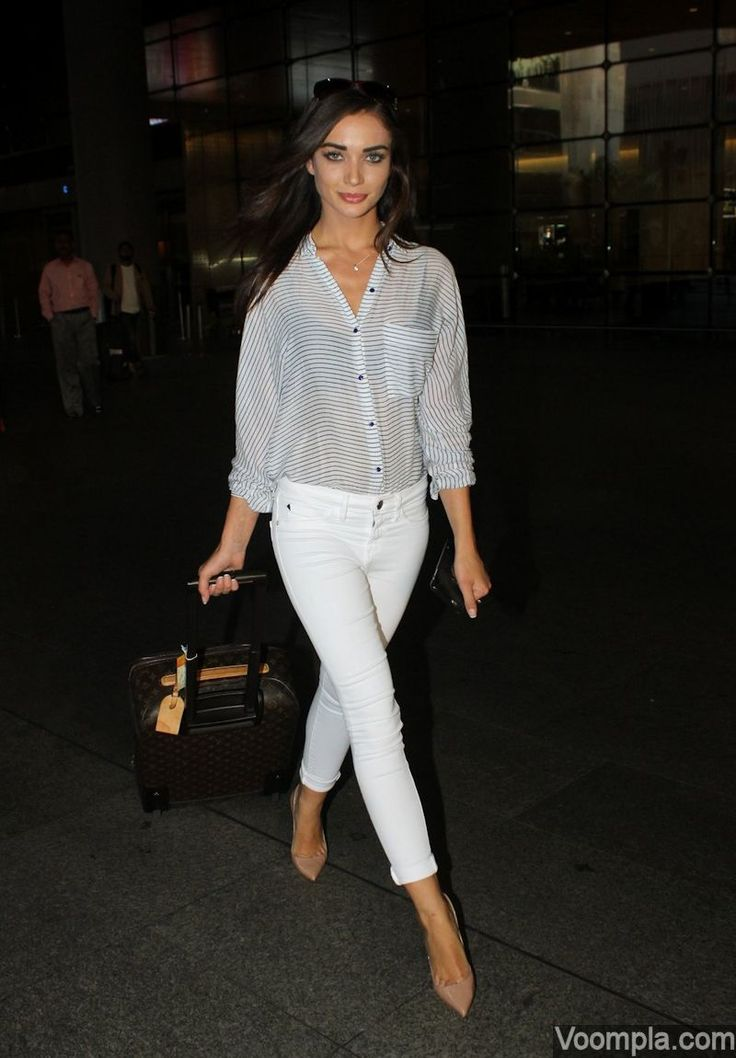 Amy Jackson's chic travel style! via Voompla.com