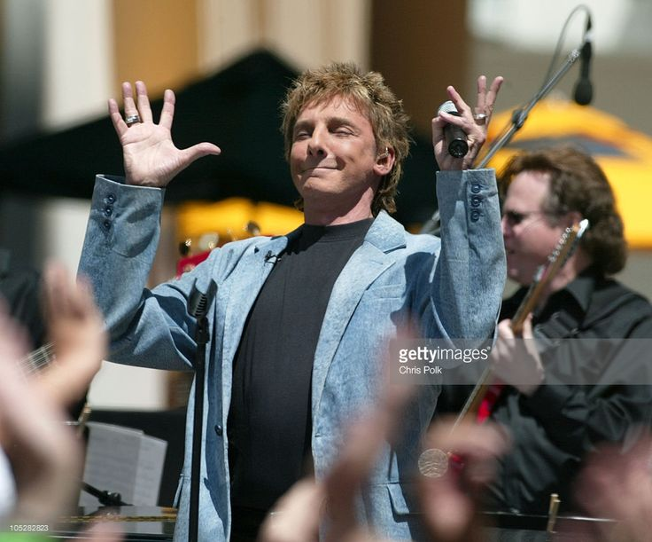 Barry Manilow during Barry Manilow and Jennifer Hudson Perform 'On Air with Ryan Seacrest' at Hollywood and Highland in Hollywood, California, United States.