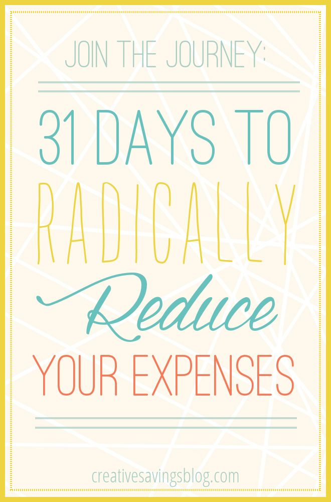 If everyday expenses, weekly bills, and monthly payments are taking control of your budget, you don`t want to miss this 31 Days Series to Radically Reduce Your Expenses. This is YOUR chance to finally reach your savings goals. Won`t you join us?