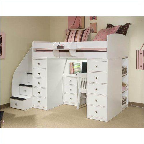 Berg Furniture Sierra Space Saver Wood Loft Twin Bed