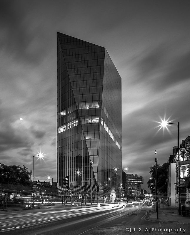 240 Blackfriars Road - AHMM Architects' nearly completed prismatic tower - trailblazing the new developments  south of Blackfriars Bridge