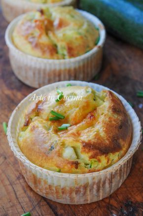 Muffin zucchine e ricotta ricetta veloce sfiziosa vickyart arte in cucina