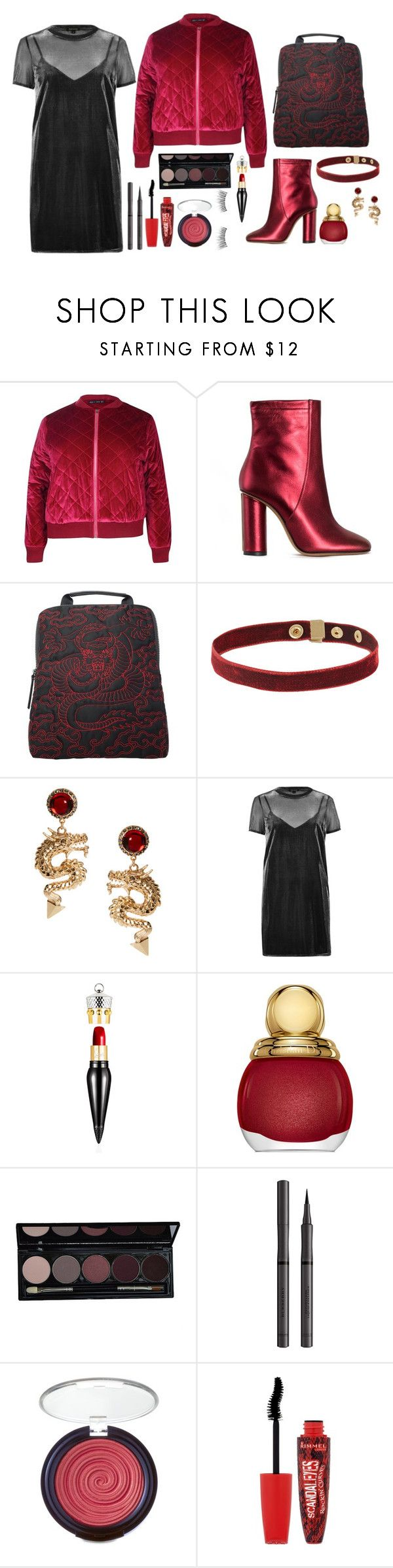"""""""But inside there was hate"""" by angel17-angel17 ❤ liked on Polyvore featuring Boohoo, Jill Stuart, Vivienne Tam, ASOS, River Island, Christian Louboutin, Christian Dior, Burberry, Laura Geller and Rimmel"""