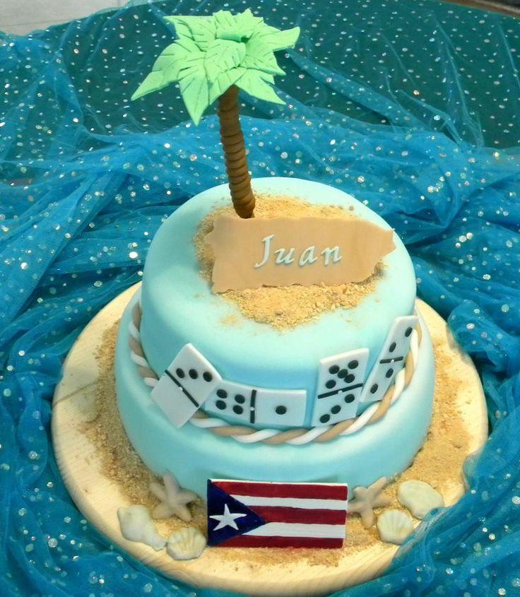 Puerto Rico Themed Birthday Cake Cake Decorating
