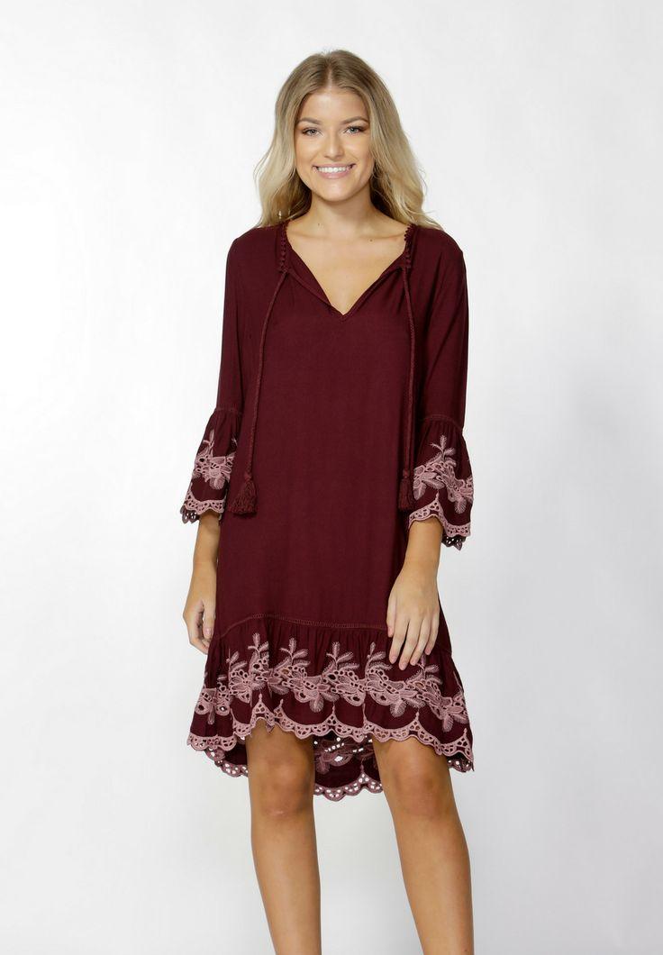 Sass - Orlinda Embroidered Hem Dress