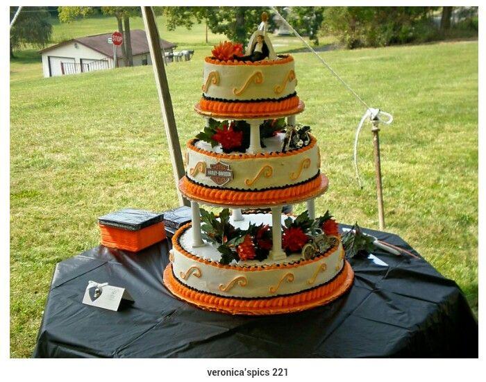 Harley Davidson Wedding: 20 Best Biker Wedding Cakes Images On Pinterest