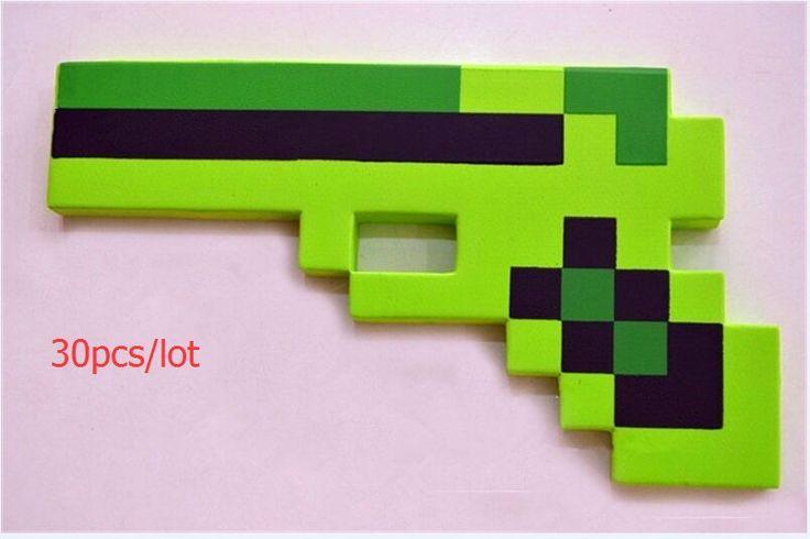 Pas cher 30 pcs/lote Minecraft jouets Minecraft mousse épée pioche Gun jouets…
