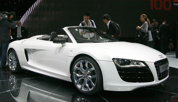 "Audi R8 Spyder-""You can get me one for my birthday....in white I think."" :)"