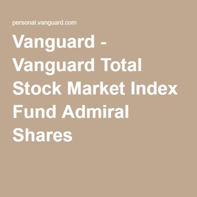 Vanguard - Vanguard Total Stock Market Index Fund Admiral Shares