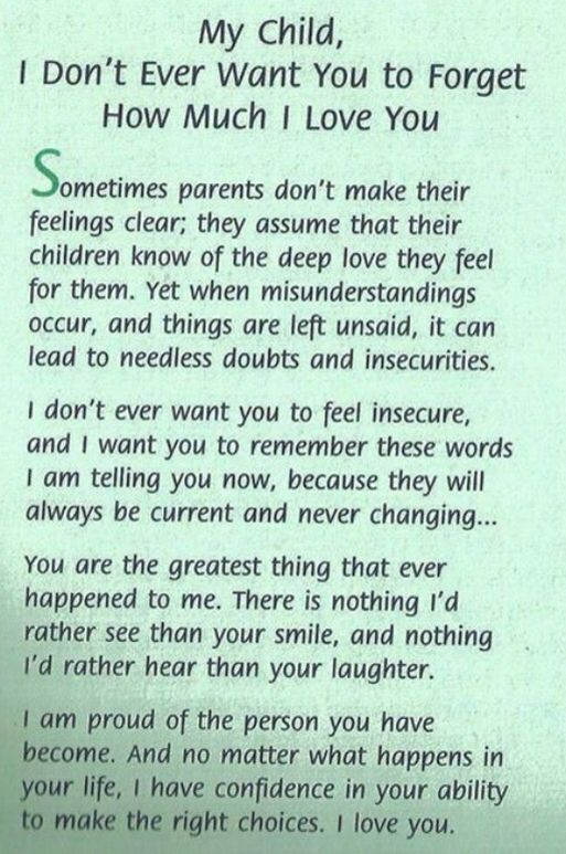 To all my children with all my love!!