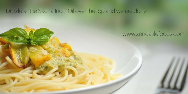 Add Sacha Inchi Oil to a pasta just before serving! Perfect!