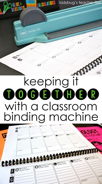 This is a great little binding machine that is perfect for student work and published pieces—the combs are really strong and last all year long!