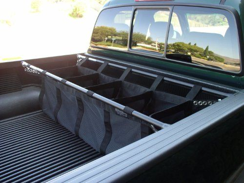 I wonder if I could make this out of shower curtain rods and material??? Full Size Pickup Truck Bed Organizer Loadhandler