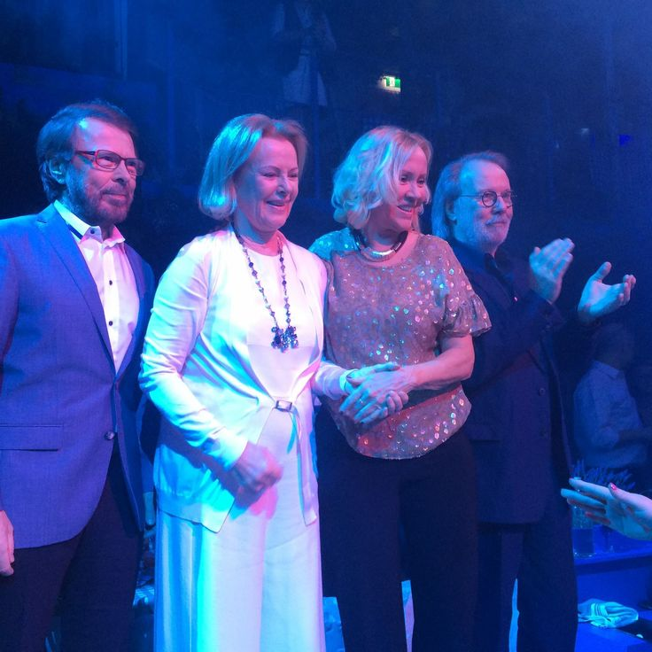 "ABBA 2016 They reunited 1 time to celebrate the opening of an ABBA-inspired restaurant in Stockholm - Sweden. They made the rare appearance for the launch of Björn's new dining experience  ""Mamma Mia! The Party."""