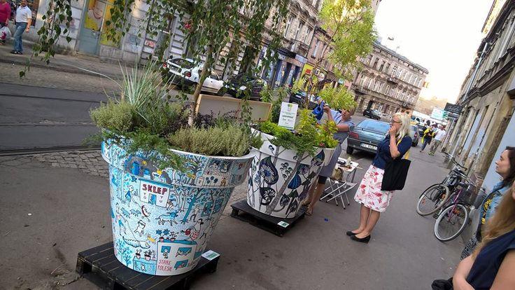 Pomysł na miejską integrację: wielkie donice   Inspirowani Naturą I large flower pots nuno'ni for public space