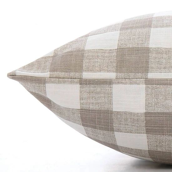 Warm Stone Gingham Check Dog Bed The Foggy Dog In 2020 Dog Bed Duvet Covered Dog Bed Pet