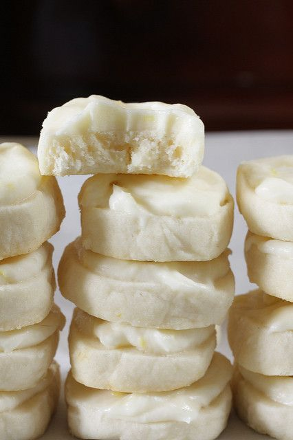 Lemon Tea Cookies. My mom makes these at Christmas time and they are super addicting. Light but sweet and tangy.