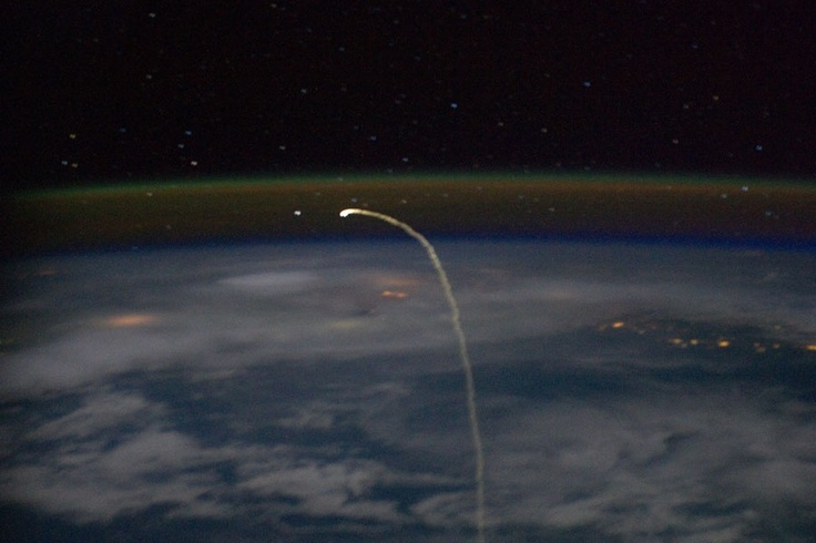 Launch as viewed from the International Space Station
