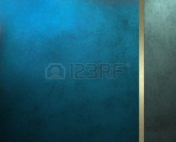 Элегантный синий фон или роскошной крышки брошюру с золотой лентой полосой и боковой панелью бар для веб-шаблон дизайна или обложки книги, имеет старинные гранж текстуру фона макета photo