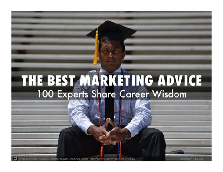 Best #Marketing Advice - 100 Global Experts Share Their Career Wisdom