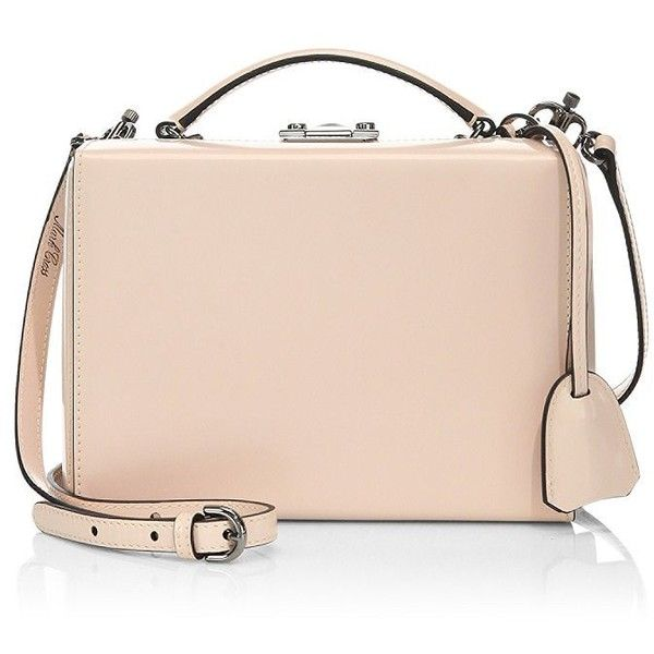 Mark Cross Grace Small Box Ballet Leather Shoulder Bag (£1,695) ❤ liked on Polyvore featuring bags, handbags, shoulder bags, bolsas, purses, torbe, leather man bags, hand bags, pink leather handbags and pink shoulder bag