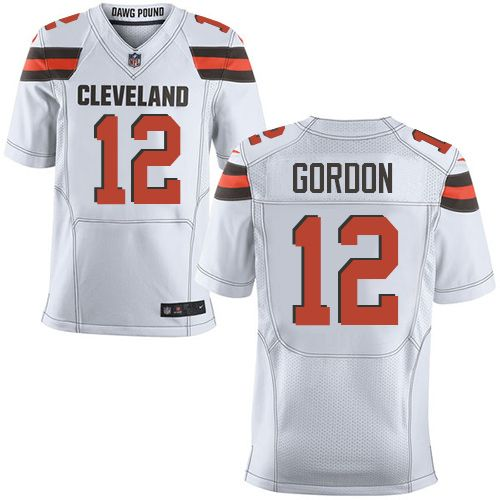 $24.99 Nike Elite Josh Gordon White Men's Jersey - Cleveland Browns #12 NFL Road