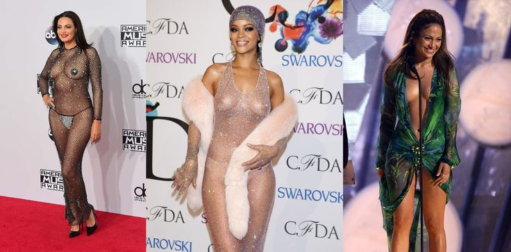 Here are 10 of the most revealing dresses in red carpet history.Stars ditch their underwear and slip into VERY revealing dresses for red carpet.