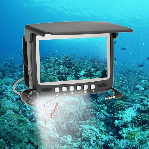 4.3 Digital Color TFT Monitor 8 Infrared LED 800TVL HD Underwater Fishing Camera 30M Cable Fish Finder Night Vision