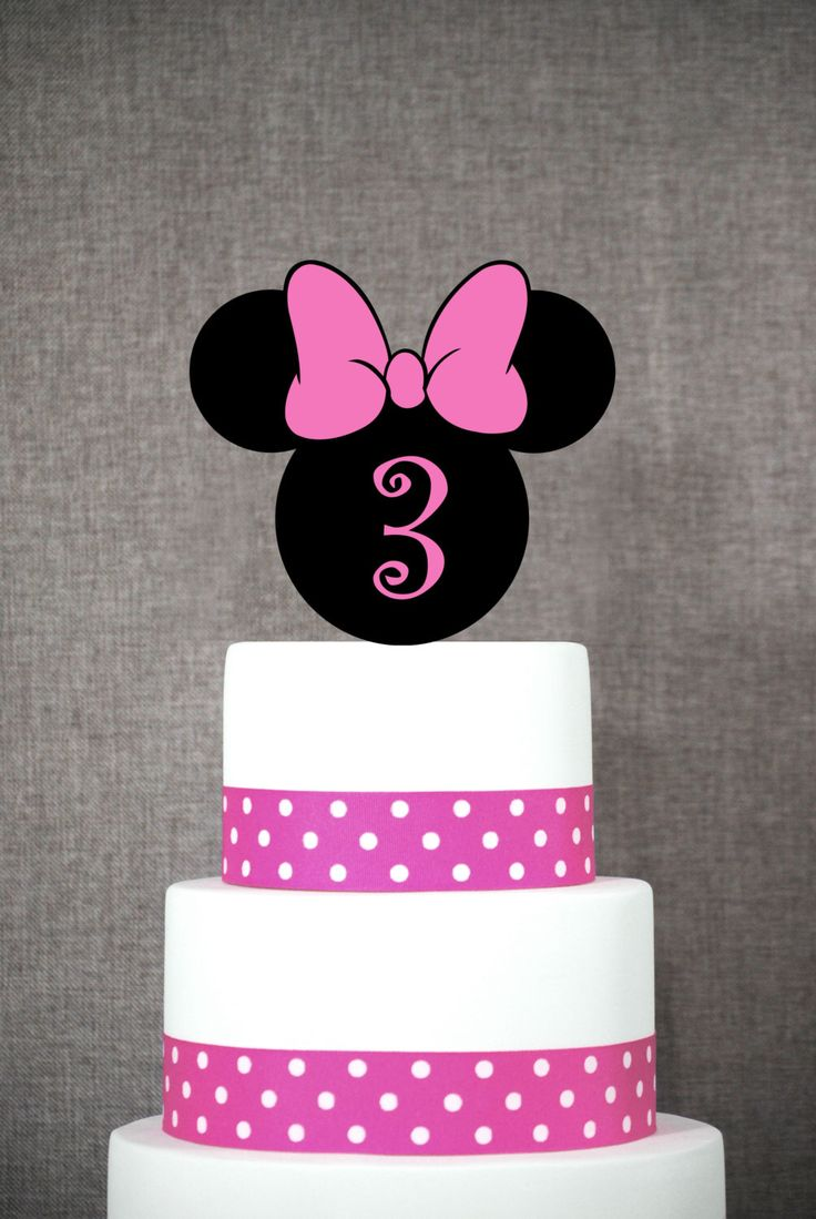 Minnie Mouse Birthday Cake Topper, Fun Number Birthday Cake Topper, Classic Cake Topper- (S276) by ChicagoFactory on Etsy https://www.etsy.com/listing/262902150/minnie-mouse-birthday-cake-topper-fun
