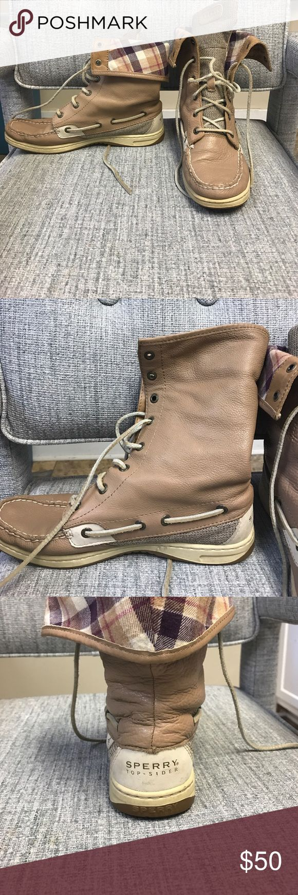 Sperry boat boots Role down sperry boots. I've had for a long time but sadly I never wear them! In very good condition Sperry Top-Sider Shoes Lace Up Boots