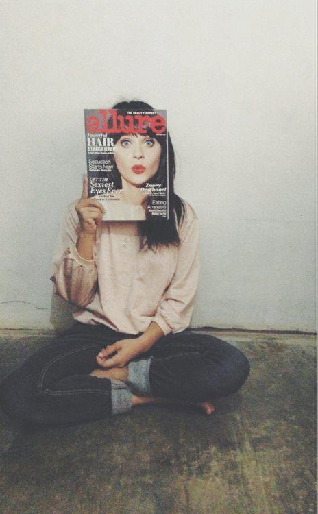 Zoey Deschanel #funny #cover #photography