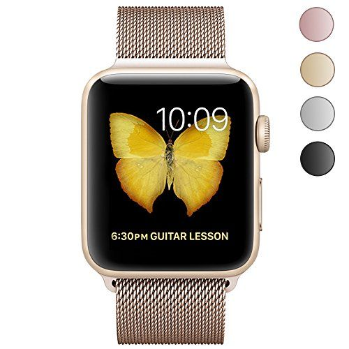 CTYBB Watch Band 38mm Milanese Loop Stainless Steel Magnetic Lock for Apple Watch Series 2 Series 1 Sport & Edition