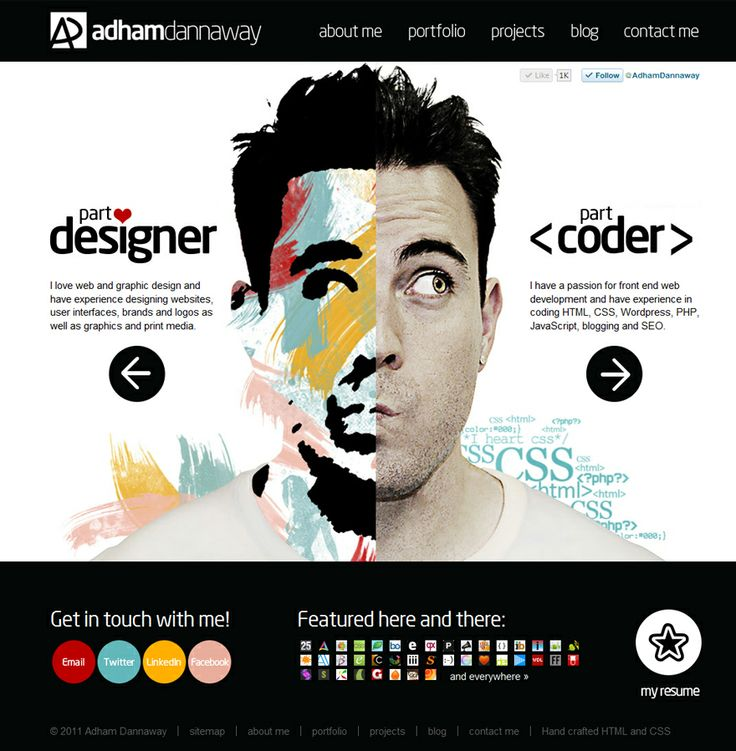 Portfolio of Adham Dannaway - Want to create your own web portfolio? Go to http://styleresumes.com