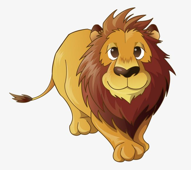 Hand Painted Cartoon Lion Prairie Cartoon Clipart Lion Clipart Cartoon Animals Png And Vector With Transparent Background For Free Download Cartoon Lion Cartoon Clip Art Cartoon Animals