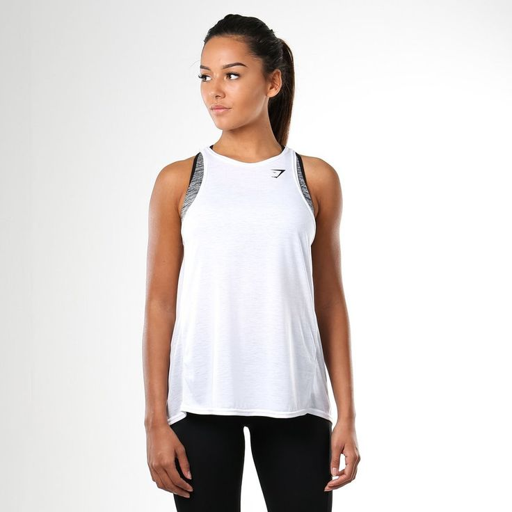 Gymshark Switch Back Gym Vest - White at Gymshark