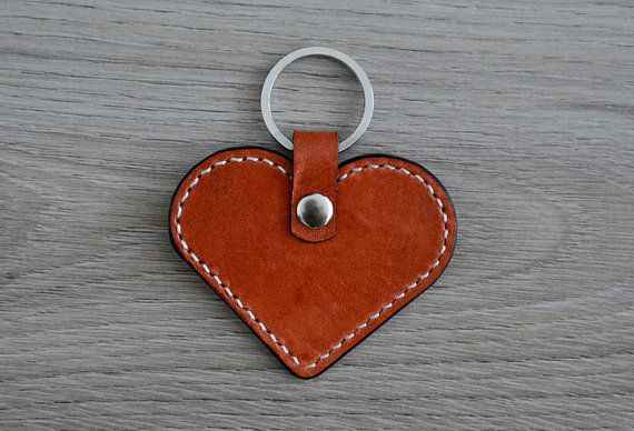 Hey, I found this really awesome Etsy listing at https://www.etsy.com/listing/231833548/sale-leather-heart-keychain-brown-and