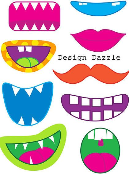 Neat Little Nest: Monster Mouth printable for photo booths!
