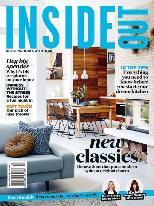 Interior Design Magazines: Inside Out July 2015